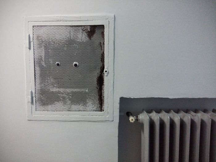 Someone In Bulgaria Put Googly Eyes On Broken Objects And It's Awesome
