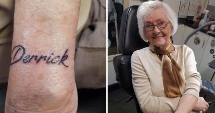 Woman Gets Her First Tattoo At 82 Years Old