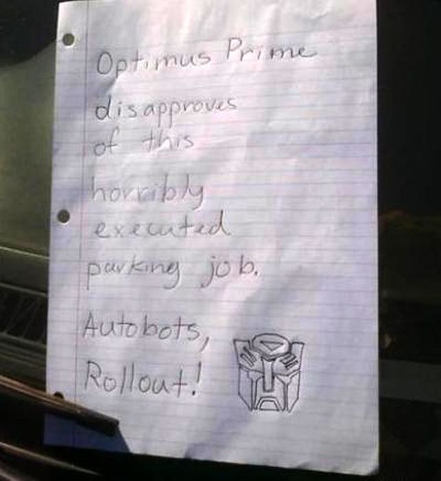 People Who Suck At Parking Share Hilarious Notes They've Received