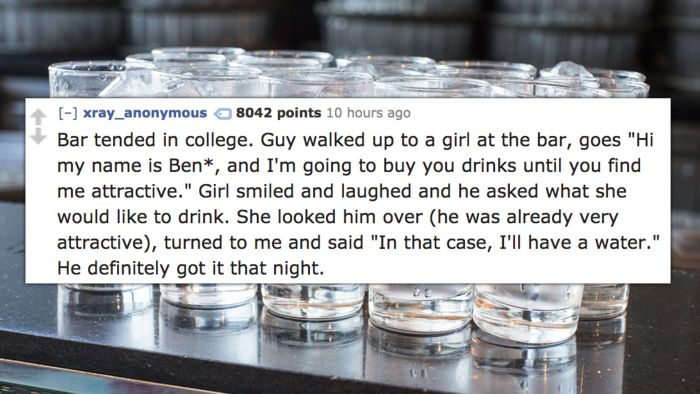 15 Of The Smoothest Pick-Ups Bartenders Have Ever Witnessed