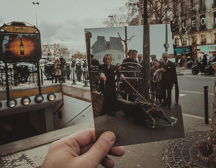 Guy Matches Old Photos To Modern Places During Trip To Europe