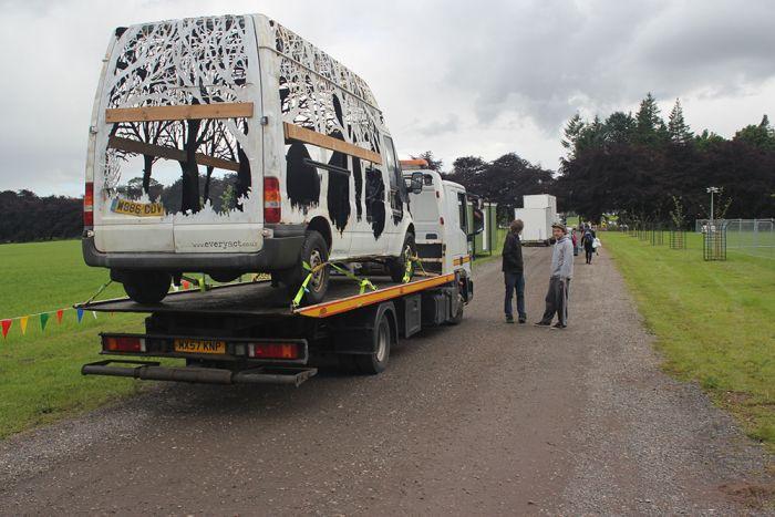 Artist Creates Stunning Sculpture Out Of A Van