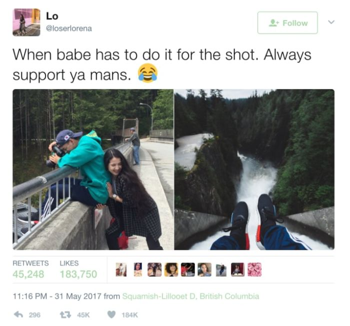 Woman Helps Her Man Get The Perfect Shot