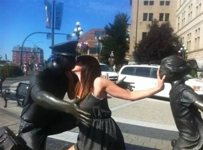 Statues Are Always Willing To Be Part Of A Photoshoot