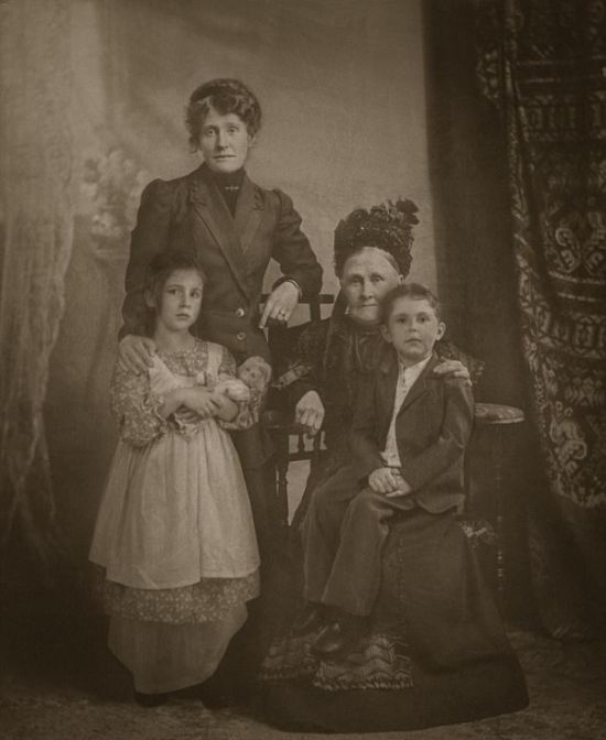 Quaint Family Photograph Exposed