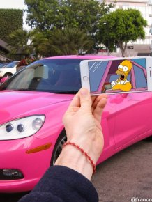 Guy Uses iPhone To Insert Simpsons Characters Into Real Life Situations