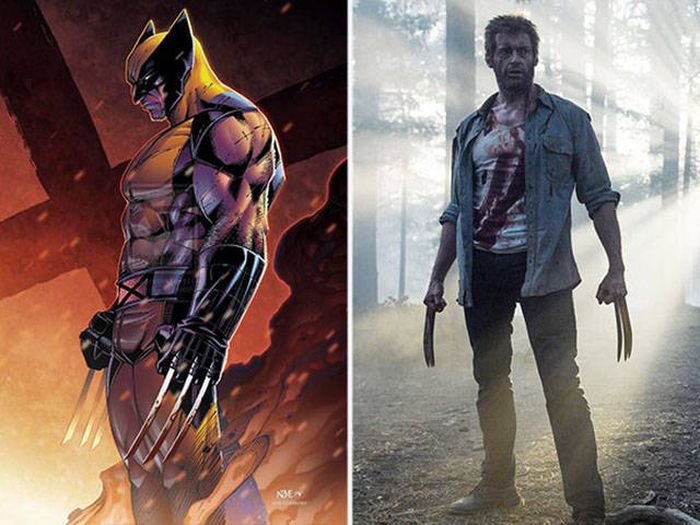What Comic Characters Look Like Compared To Their Movie Counterparts