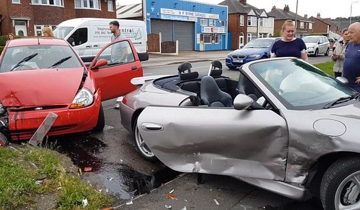 Driver Loses His Limited Edition Porsche In Brutal Crash
