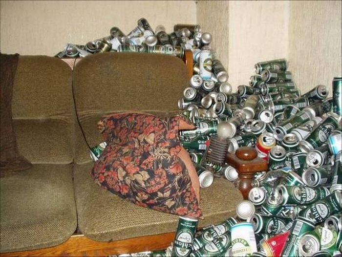 Inside The Apartment Of An Alcoholic
