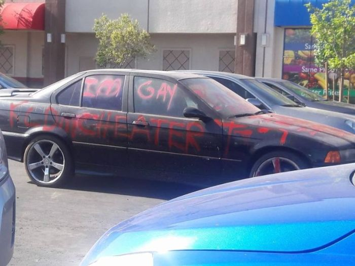 Scorned Wife Uses Car To Call Out Cheating Husband