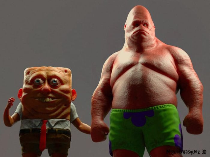 Artist Imagines What SpongeBob Would Look Like As A Real-Life Human