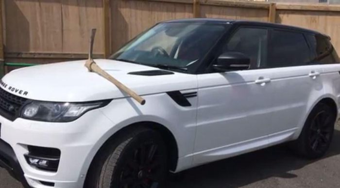 Disgruntled Employee Takes A Pickaxe To Boss' Range Rover