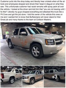 Auto Shop Helps Man After His Truck Is Defaced With Racial Slurs