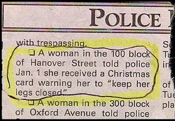 Great And Hilarious Moments From Police Blotter History