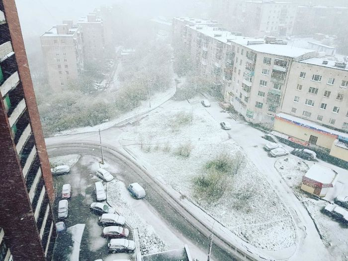 Murmansk Hit With Snow In June