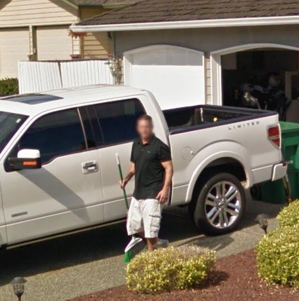 Man Pursues Google Street View Car On A Broom