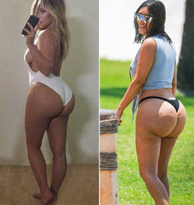 Kim Kardashian Claims These Pictures Were Photoshopped