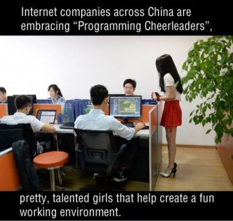 Chinese Companies Are Hiring Sexy Programming Cheerleaders