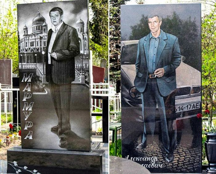 Russian Mafia Members With Over The Top Graves