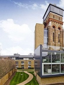 Old London Water Tower Gets Transformed Into A Modern Home