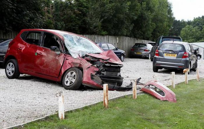 The Most Expensive Car Accident Of This Man's Entire Life