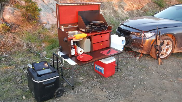 Guy Builds Camp Kitchen For His Girlfriend