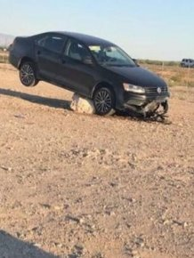 Man Gets Stuck In The Middle Of The Desert