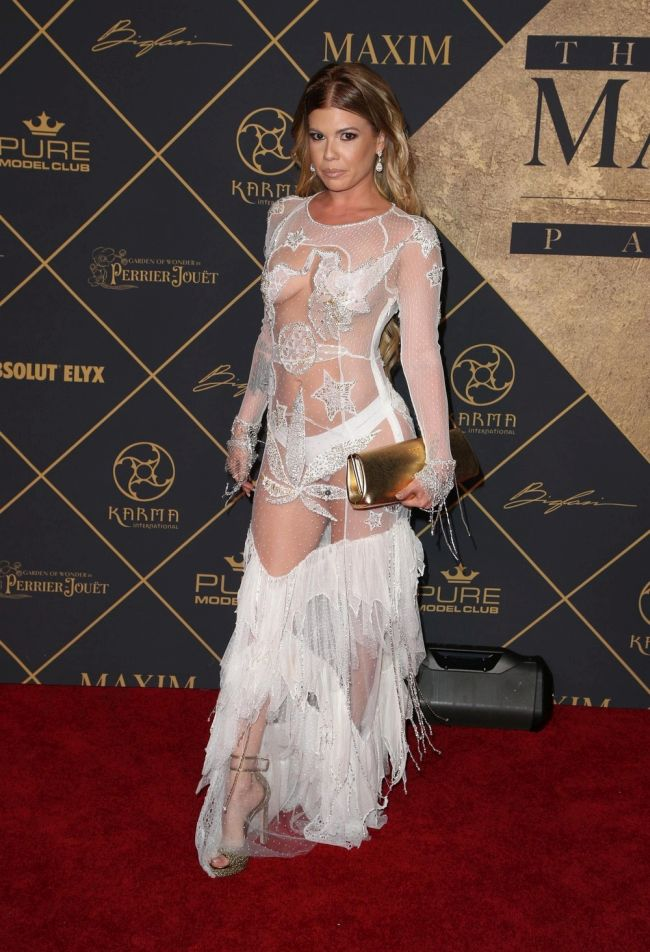 Chelsea Chanel Dudley Walks The Red Carpet In A Transparent Dress