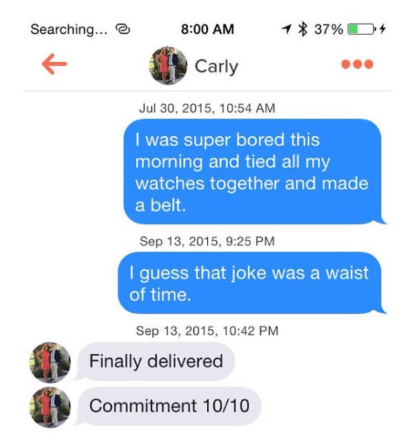 Tinder Is The Goldmine Of Terrible Pickup Puns