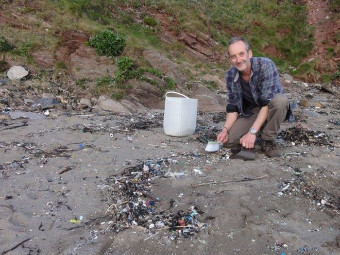 Man Gathers 35 Bags Of Plastic Garbage At Tregantle Beach