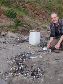 Man Gathers 35 Bags Of Plastic Garbage At Tregantle Beach