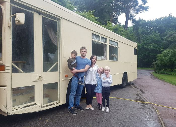 Couple Turns Bus Into Luxury Camper