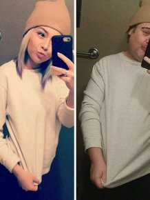 Dad Trolls Daughter By Recreating Racy Selfies