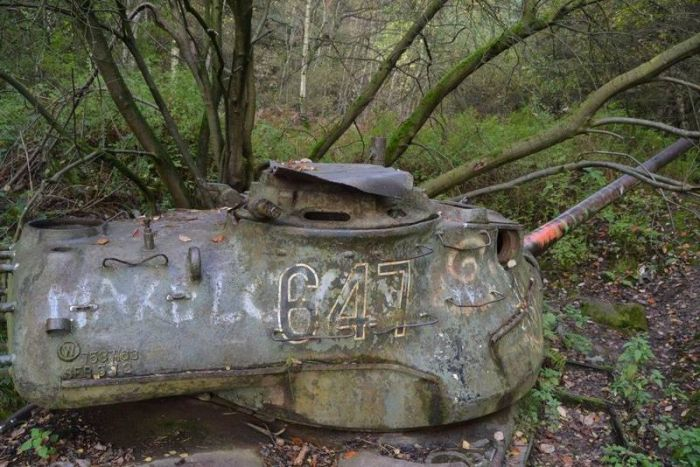 The Earth Is Claiming These Abandoned Tanks In Germany