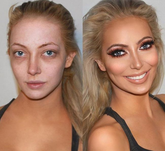 Before And After Photos Show Women With And Without Makeup | Others
