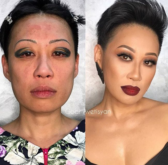 Before And After Photos Show Women With And Without Makeup