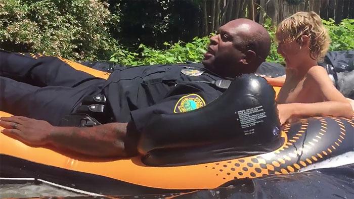 Police Slide Down Illegal Slip 'N Slide Instead Of Shutting It Down