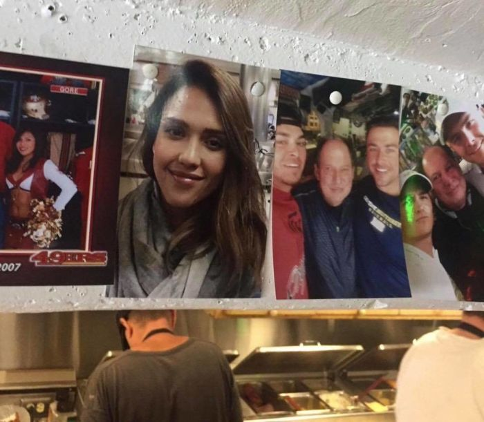 Guy Finds Random Pic He Took With Jessica Alba In A Deli