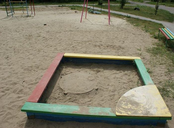 Only In Russia Would You Find This In A Sandbox