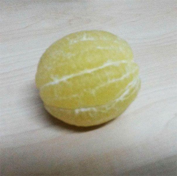 Terrifying Photos Of Peeled Fruits