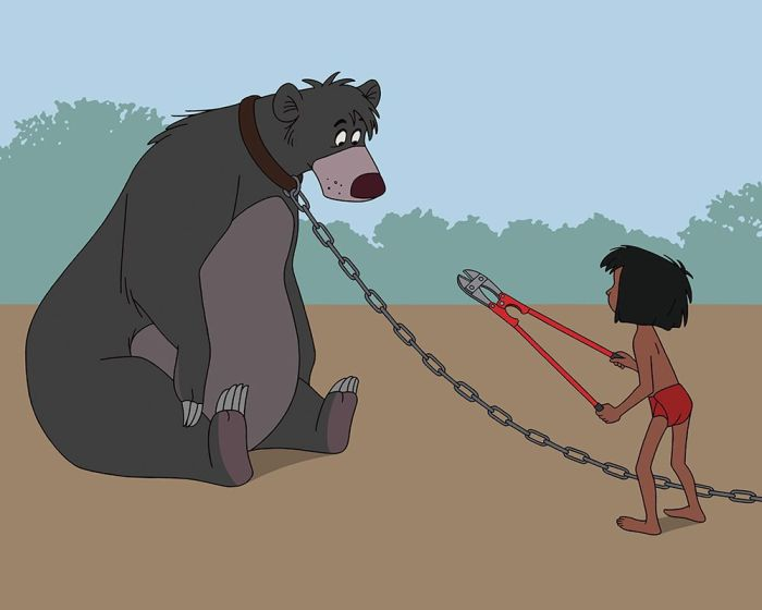 Illustrator Uses A Modern Twist To Update Disney Movies