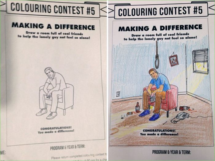 Examples Of Adults Messing Up Coloring Books