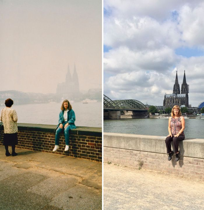 Woman Travels To The Same Locations 30 Years Later