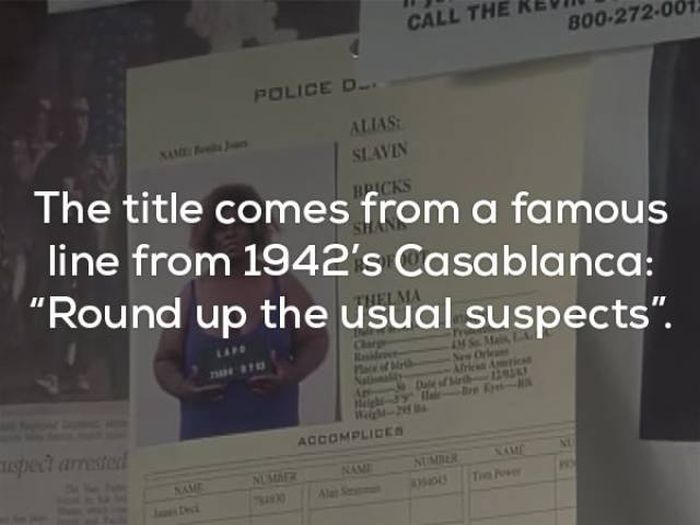 Unusual And Awesome Facts About The Usual Suspects