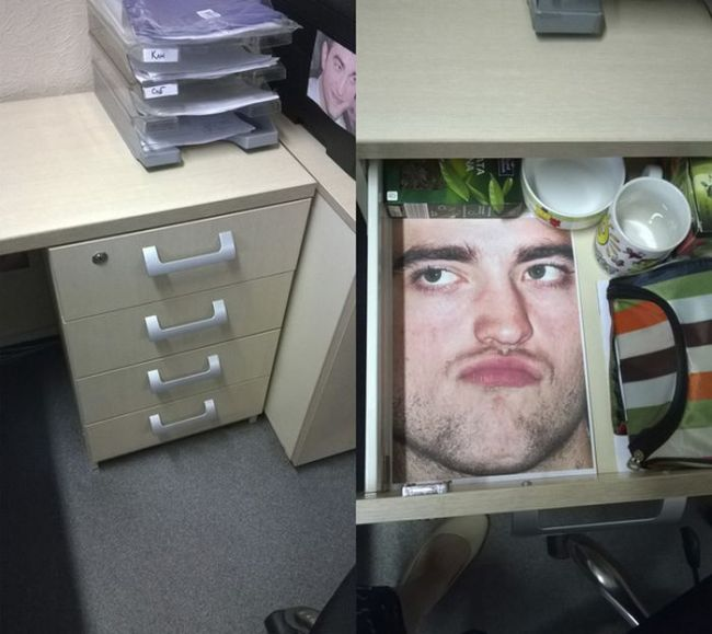 Employee Gets Trolled With Pictures Of Robert Pattinson