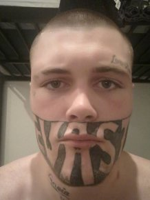 Man With Face Tattoo Complains He Can't Get A Job