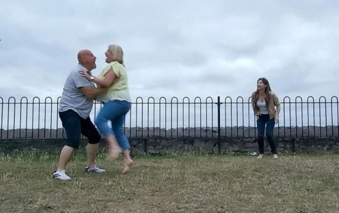 Future Newlyweds Recreate Iconic Scene From Dirty Dancing