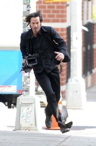 Keanu Reeves Runs Away With Stolen Paparazzi Camera