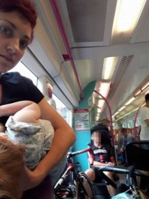 Breastfeeding Mom Shames Commuters On Facebook