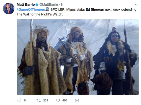 Twitter Reacts To Ed Sheeran's Game Of Thrones Appearance